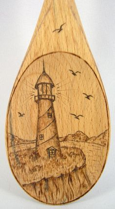 lighthouse patterns for wood burning - Google Search
