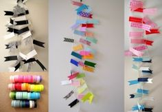 paper tape bunting.