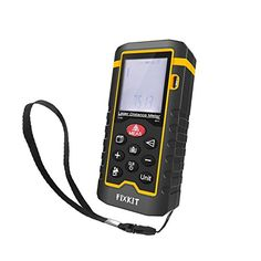 FIXKIT Laser Entfernungsmesser mit maximalem Messbereich 60m mit hinterleuchtetem LCD Bildschirm, f�r die Messung von Entfernung, Fl�che und Volumen wie R�ume, Geb�ude, Fabriken, Lager