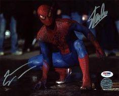 Stan Lee & Andrew Garfield Spider-Man Signed 8X10 Photo #W80519 - Psa/ @ niftywarehouse.com #NiftyWarehouse #Spiderman #Marvel #ComicBooks #TheAvengers #Avengers #Comics
