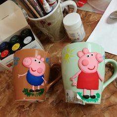 Свинка пеппа и джордж из полимерной глины