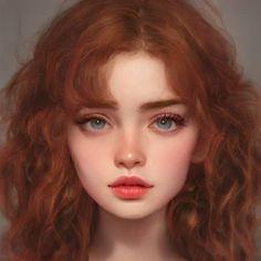 Digital Art Girl, Digital Portrait, Portrait Art, 30 Day Art Challenge, Beautiful Girl Makeup, Fantasy Art Women, Anime Character Drawing, Cute Girl Face, Character Portraits