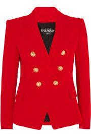BalmainDouble-breasted crepe blazer