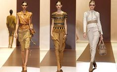 Gucci is inspired by a tribal look, reminiscent of Egyptian and a very interesting party line. Gucci presents a collection that focuses on the leather and the point, besides long pants and shirts of different very feminine. Ancient Egypt Fashion, Egyptian Fashion, Spring Fashion, Fashion Show, Fashion Design, Tribal Looks, Modern Fashion, Costume Design, Feminine