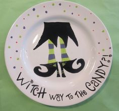 Enjoy pottery painting in Indianapolis at Kiln Creations, a paint your own pottery studio in Noblesville, Indiana. Pottery Painting, Ceramic Painting, Diy Painting, Painted Pottery, Halloween Plates, Halloween Diy, Sharpie Plates, Sharpies, Painted Ceramic Plates