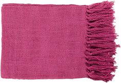 "Surya TID005-5951 59"" X 51"" Indoor Throw Blanket From The Tilda Collection Pink Home Decor Throws Throw Blankets"
