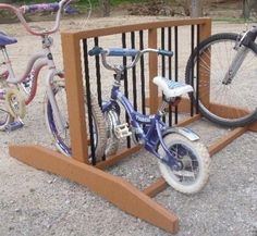 "Indoor/Outdoor Poly Lumber Bike Rack (Cedar) (30""H x 48""W x 48""D) by Quality Built Bike Rack. $320.00"