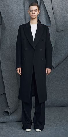 C¨¦LINE | Fall 2014 - BLACK SEERSUCKER ORGANZA COAT 28L735501.38NO ...