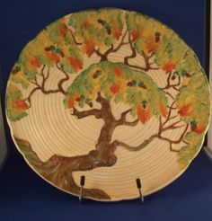Carlton Ware Oak Tree Charger in Pottery, Porcelain & Glass, Porcelain/ China, Carlton Ware Carlton Ware, Clarice Cliff, China Plates, Oak Tree, China Porcelain, Trays, Charger, Bowls, Decorative Plates