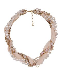 Vintage Twist Pearlescent Necklace