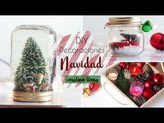 DIY Decoraciones de Navidad- Christmas decorations Christmas Decorations For The Home, Christmas Diy, Navidad Diy, Gold Style, Fashion Books, Snow Globes, Blog, Diys, Youtube