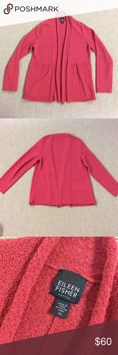 EILEEN FISHER 100% Wool Open Front Cardigan PS In excellent condition. Small spot mentioned in last pic. Eileen Fisher Sweaters Cardigans