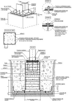 Estructura #1 Steel Structure Buildings, Concrete Structure, Metal Structure, Pre Engineered Metal Buildings, Civil Engineering Construction, Building Foundation, Steel Frame House, Carport Designs, Steel Frame Construction