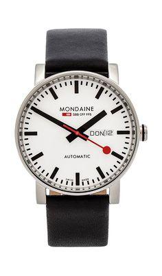 ebb11e14fec Mondaine Evo Automatic 40mm in Black   White