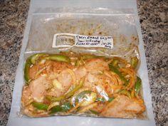 Hooks Happenings: Oven Baked Chicken Fajitas Freezer Meal
