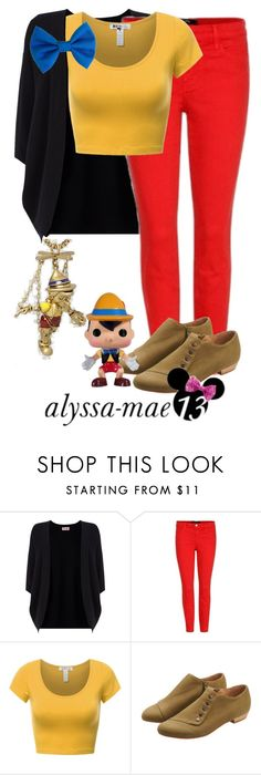 """Pinocchio // DisneyBound // Pinocchio"" by alyssa-mae13 ❤ liked on Polyvore featuring Phase Eight, J Brand, disney, disneybound and Pinocchio"