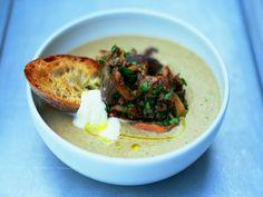 Jamie Oliver's Real Mushroom Soup. http://www.jamieoliver.com/recipes/vegetarian-recipes/the-real-mushroom-soup