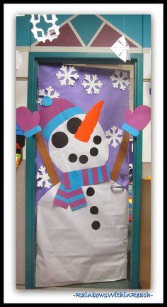 Winter Themed Decorated Classroom Doors