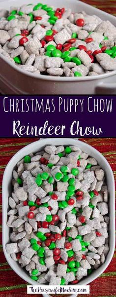 Reindeer Chow: Christmas Chex Muddy Buddies Reindeer Chow, classic puppy chow with a Christmas twist. Easy Christmas Chex Muddy Buddies is sure to be a instant classic Christmas favorite. Christmas Deserts, Holiday Desserts, Holiday Baking, Holiday Treats, Holiday Recipes, Christmas Recipes, Easy Christmas Treats, Holiday Fun, Easy Christmas Dinner