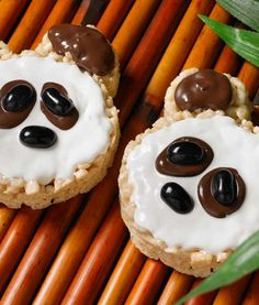 All you need for these adorable Panda Marshmallow Treats are two small cookie cutters, jelly beans and melting white and black chocolate. They're a great art project and after-school treat. Find ingredients at Walmart.com.