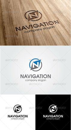 Navigation - Letter N Logo  Logo Template - GraphicRiver Item for Sale