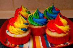.colourful cupcakes