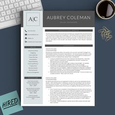 Pages Templates Resume Modern Resume Template For Word And Pages Modern Cv Design Resume .