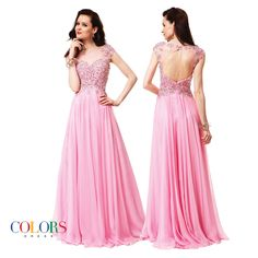 Pretty in Pink! COLORS DRESS! Style 1137. #style #gown #prom #fashion