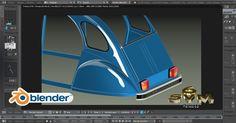 Modéliser Une Voiture 2CV Citroën A-Z Tutoriel SVM6 N° 59 Peaufinage 3d Tutorial, Blender 3d, Art Tutorials, Helpful Hints, Software, Sculpture, Tips, Useful Tips, Sculptures