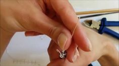How to easily make a kidney ear wire, for your earring jewellry project, by Judit - YouTube