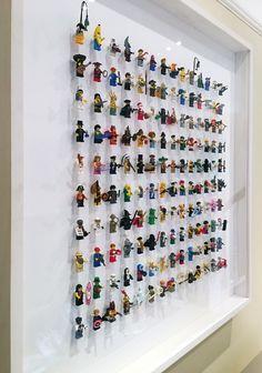 Lego Display Shelf, Rak Display, Lego Minifigure Display, Boys Room Decor, Kids Decor, Boy Room, Kids Room, Legos, Mini Figure Display