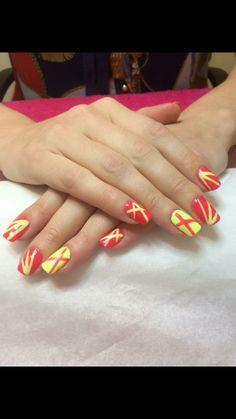 Neon gelish nail art