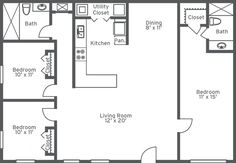 Three Bedroom Two And A Half Bath Floor Plans
