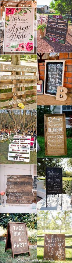 Rustic country wedding ideas - wedding signs / http://www.deerpearlflowers.com/30-rustic-wedding-signs-ideas-for-weddings/
