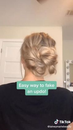 Fake Updo Tutorial An unusual and bright novelty of hair coloring. - Fake Updo Tutorial An unusual and bright novelty of hair coloring will appeal to courageous girls who love everything new and creative. Source by - Work Hairstyles, Easy Hairstyles For Long Hair, Cute Bun Hairstyles, Hairstyle Ideas, Updo Hairstyle, Formal Hairstyles, Long Hair Easy Updo, Easy Morning Hairstyles, Simple Hair Updos