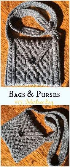 Cable Interlace Bag Free Knitting Pattern - #Bags & Purses Free #Knitting Patterns