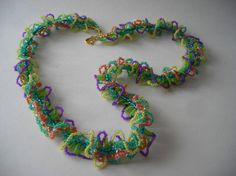 Spring Garden beaded necklace in Oglala stitch