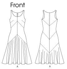 Gorgeous 1920's Style Flapper Dress Pattern, Vogue 7571