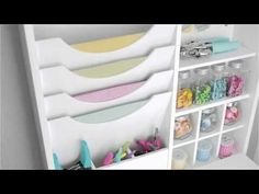 Fold Down Craft Table by We R Memory Keepers is the perfect solution for small scrapbook spaces. Craft Desk, Craft Room Storage, Craft Organization, Craft Rooms, Bedroom Storage, Fold Down Table, Diy Dining Table, Table Desk, We R Memory Keepers
