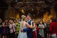 First dance in the barn. Getting married at Oakwell Hall Barn Leeds, Birstall, Yorkshire. Grand Hall with barn attached.   See more at www.jamesandlianne.com  Yorkshire Wedding Photographers Capturing the day how you remember it.