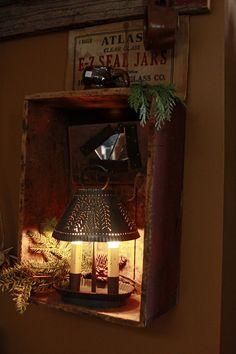 Cook's Primitive Christmas – MagdalenBluePhotography Cook's Primitive Christmas – MagdalenBluePhotography Primitive Living Room, Primitive Homes, Primitive Kitchen, Primitive Crafts, Country Primitive, Primitive Furniture, Primitive Antiques, Primitive Stitchery, Primitive Patterns