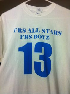 FRS Jerseys for the squad