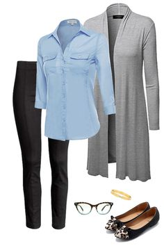 Like this stylish work outfit