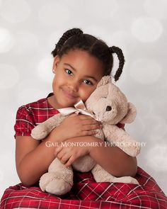 Child Photography - Christmas Portrait Bokeh Overlay