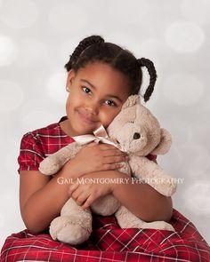 Child Photography - Christmas Portrait Bokeh Overlay