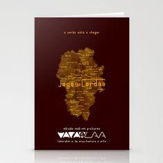 """Vaca - MP: """"Jogo das Cordas"""". Stationery Card"""