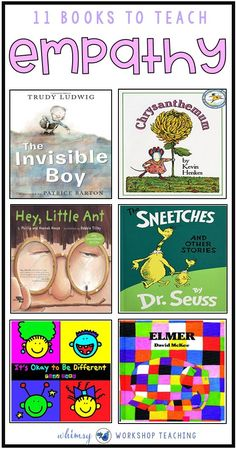 A clickable list of books to help teach empathy, kindness and other social skills to children, along Social Skills Activities, Teaching Social Skills, Help Teaching, Feelings Activities, Social Skills Lessons, Shape Activities, Teaching Manners, Community Activities, Movement Activities