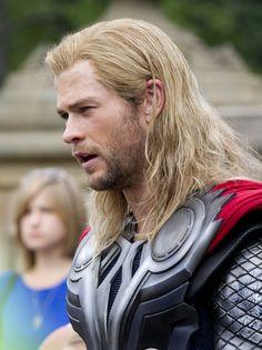 Hemsworth in character as the God Thor - lighter blonde  #chrishemsworth #hair #thor