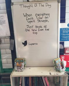 """56 Likes, 1 Comments - Robinson Fitness (@robinsonfitness.ldn) on Instagram: """"Nice message at Clapham North Tube.  When everything feels like an uphill struggle, Just think of…"""""""