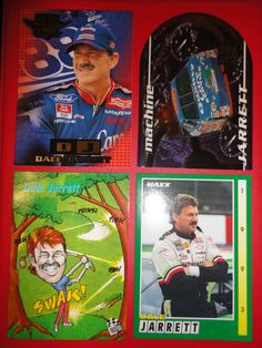 ** 4 OLD Nascar Dale Jarrett Racing Cards **